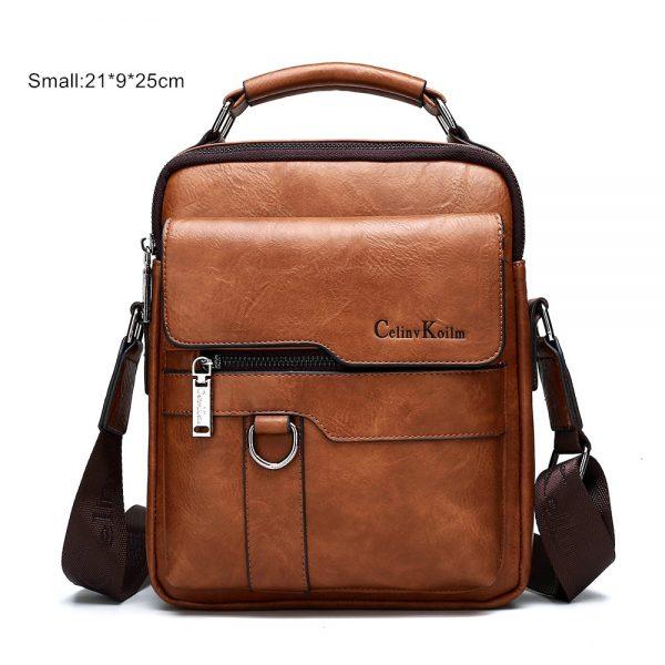 Celinv Koilm Luxury Brand Men Messenger Bags Crossbody Business Casual Handbag Male Spliter Leather Shoulder Bag Large Capacity