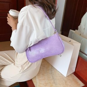 Retro Alligator Pattern Women Shoulder Bags PU Leather Casual Trendy Subaxillary Bags Bolsa Mujer 2020 New Designer Schoudertas