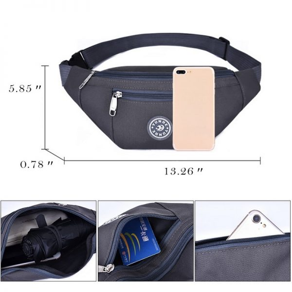Chest bag Nylon Waist Bag Women Belt Bag Men Fanny Pack Fashion Colorful Bum Bag Travel Purse Phone Pouch Pocket hip bag