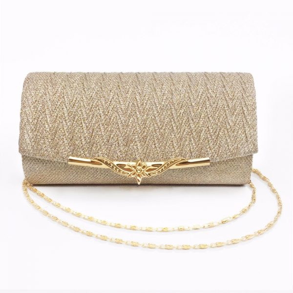 Fashion Women Evening Bag Brand Party Banquet Glitter Bag For Ladies Wedding Clutches Handbag Shoulder Bag Chain Bolsas Mujer
