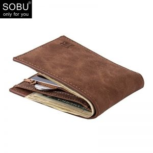 New Men Wallets Small Money Purses Wallets New Design Dollar Price Top Men Thin Wallet With Coin Bag Zipper Wallet L027