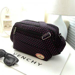 Summer Fashion Polka Dot Multicolor Printed Canvas Women's Crossbody Bag Trend Shoulder Bag Nylon Leisure Messenger Bag
