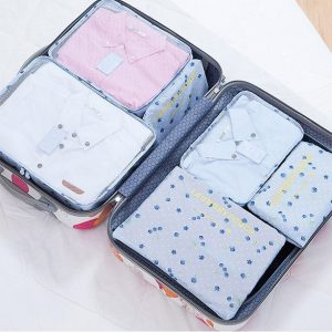 Women Men 6PCS/Set Travel BagTravel Mesh Bag In Bag Luggage Organizer Packing Cosmetic Bag Cube Organiser for Clothing